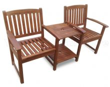 Banbury Love Seat Hardwood Garden Bench 1/2 Price Deal